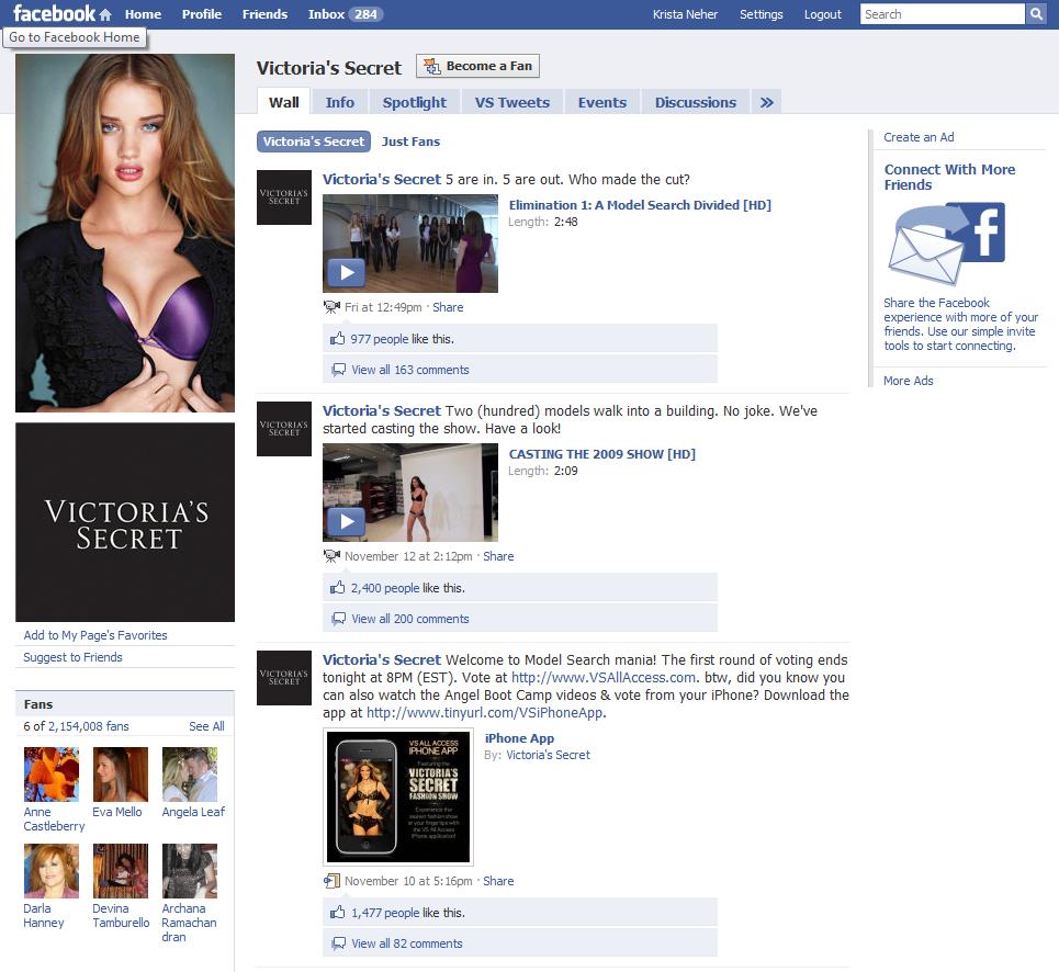 Victorias Secret fan page