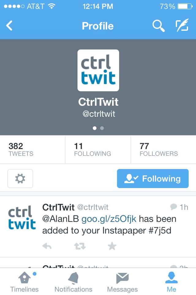 New App - CtrlTwit